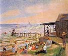 Beach Side 1913 - William Glackens reproduction oil painting