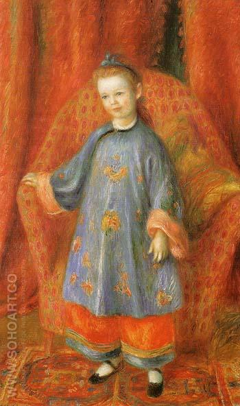 The Artist s Daughter in Chinese Costume 1918 - William Glackens reproduction oil painting