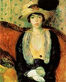 Miss Olga D 1910 - William Glackens reproduction oil painting