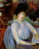 Cafe Lafayette Portrait of Kay Laurel 1914 - William Glackens reproduction oil painting