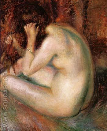 Back of Nude 1930 - William Glackens reproduction oil painting
