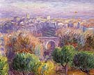 Town of Vence 1925 - William Glackens reproduction oil painting