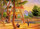 Bowlers La Ciotat 1930 - William Glackens reproduction oil painting