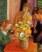 Breakfast Porch 1925 - William Glackens reproduction oil painting