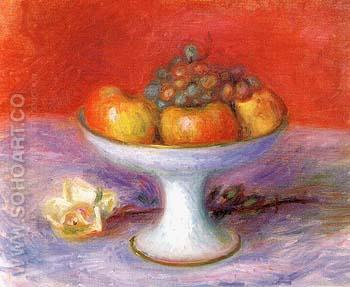 Fruit and aWhite Rose 1930 - William Glackens reproduction oil painting
