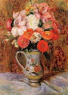Flowers in a Quimper Pitcher - William Glackens