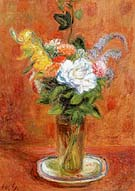 White Rose and Other Flowers 1937 - William Glackens reproduction oil painting