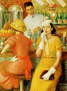 The Soda Fountain 1935 - William Glackens reproduction oil painting