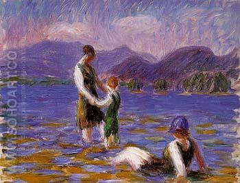 Lake Bathers 1920 - William Glackens reproduction oil painting