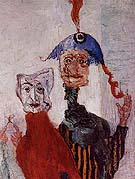 The Strange Masks detail 1892 - James Ensor