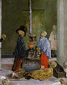Skeletons Trying to Warm Themselves 1889 - James Ensor