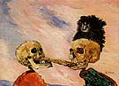 Skeletons Fighting Over a Pickled Herring 1891 - James Ensor