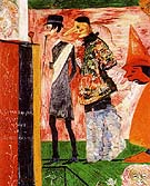 Figures in Front fo the Playbill of La Ganne d Amour - James Ensor
