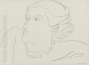 Lydia 1936 - Henri Matisse reproduction oil painting