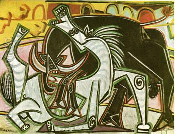 Bullfight Corrida 1934 - Pablo Picasso reproduction oil painting