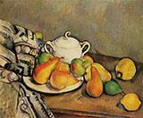 Sugar Bowl, Pears and Rug 1888 - Paul Cezanne