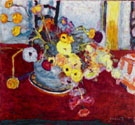 Flowers on a Red Carpet 1928 - Pierre Bonnard reproduction oil painting