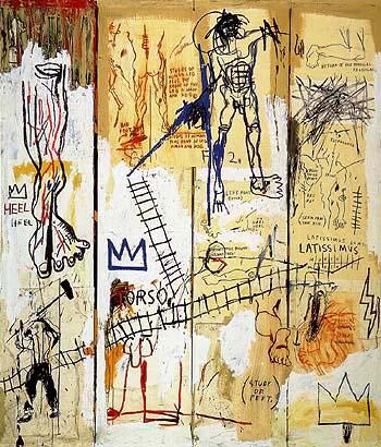 Leonardo da Vinci s Greatest Hits 1982 - Jean-Michel-Basquiat reproduction oil painting