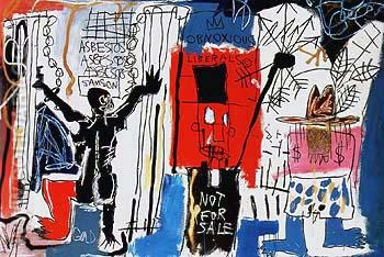 Obnoxious Liberals 1982 - Jean-Michel-Basquiat reproduction oil painting