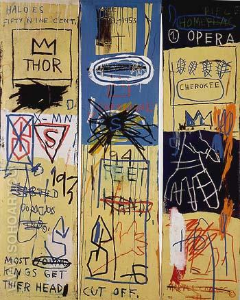 Charles the First 1982 - Jean-Michel-Basquiat reproduction oil painting