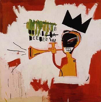 Trumpet 1984 - Jean-Michel-Basquiat reproduction oil painting