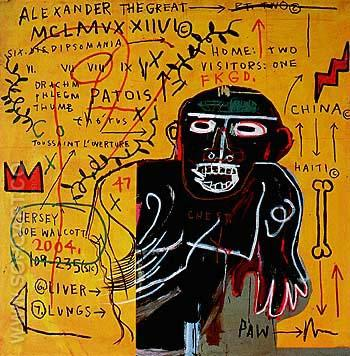 All Colored cast Part II 1982 - Jean-Michel-Basquiat reproduction oil painting