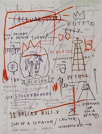 Untitled jackson 1982 - Jean-Michel-Basquiat reproduction oil painting