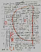 Untitled Olive Oil 1982 - Jean-Michel-Basquiat