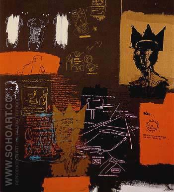Untitled from the Blue Ribbon Series 1 1984 - Jean-Michel-Basquiat reproduction oil painting
