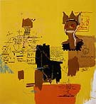Untitled from the Blue Ribbon 2 series 1984 - Jean-Michel-Basquiat reproduction oil painting