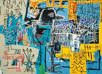 Bird on money 1981 - Jean-Michel-Basquiat reproduction oil painting