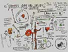 Dog Leg Study - Jean-Michel-Basquiat reproduction oil painting