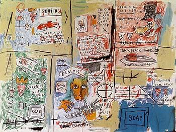Olympic - Jean-Michel-Basquiat reproduction oil painting