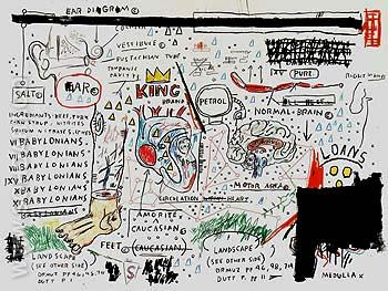 King Brand - Jean-Michel-Basquiat reproduction oil painting