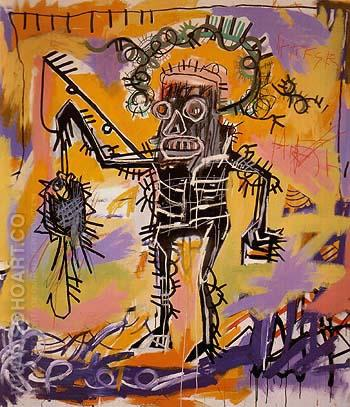 Untitled 1981 2 - Jean-Michel-Basquiat reproduction oil painting