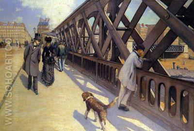 The Pont de L'Europe  1876 - Gustave Caillebotte reproduction oil painting