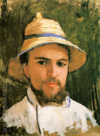 Autoportrait Fragment c1873 - Gustave Caillebotte reproduction oil painting