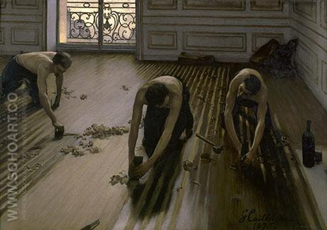 Floor Scrapers 1875 - Gustave Caillebotte reproduction oil painting