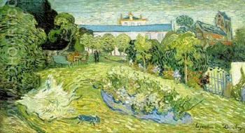 Daubigney's Garden 1 1890 - Vincent van Gogh reproduction oil painting