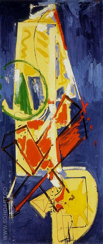 Chimbote Mural 1950 - Hans Hofmann reproduction oil painting