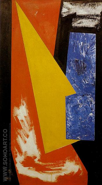 Sketch For Chimbote Mural Fragment 1950 - Hans Hofmann reproduction oil painting