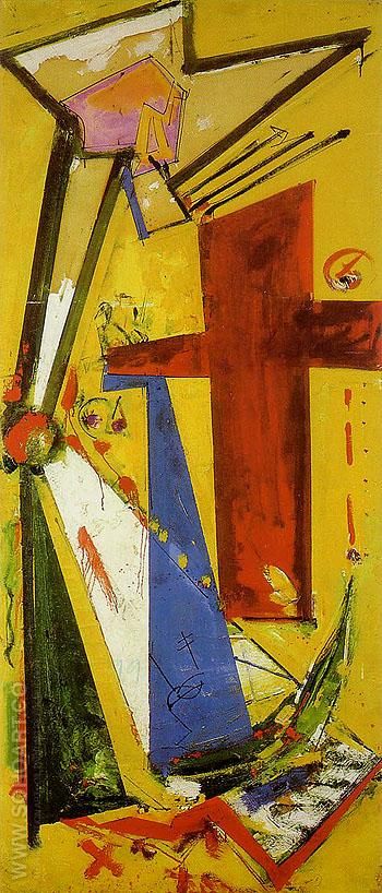 Sketch Chimbote Mosaic Cross 1950 - Hans Hofmann reproduction oil painting