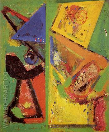 Provincetown 1950 - Hans Hofmann reproduction oil painting
