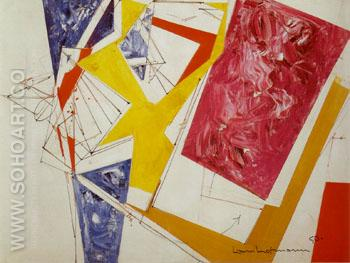 Push and pull III 1950 - Hans Hofmann reproduction oil painting