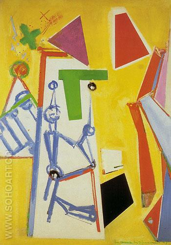 Yellow Space 1949 - Hans Hofmann reproduction oil painting