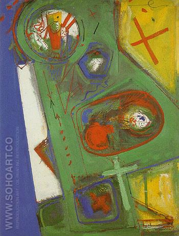 Table Version II 1949 - Hans Hofmann reproduction oil painting