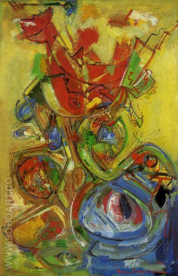 The Resurrection VII 1948 - Hans Hofmann reproduction oil painting