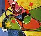 Submerged 1947 - Hans Hofmann reproduction oil painting