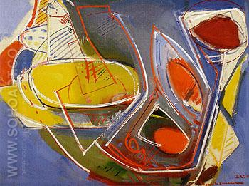Obliquite 1947 - Hans Hofmann reproduction oil painting