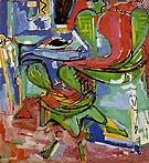 The Wicker Chair Version II 1942 - Hans Hofmann reproduction oil painting